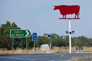 Ox sign at Durham Ox outside Bendigo