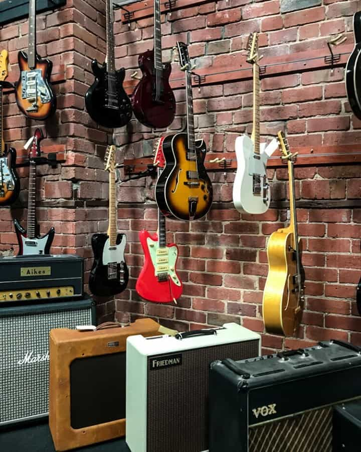 I miss going to guitar shops