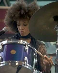 Cindy Blackman drum clinic at Federation Square, May 2008