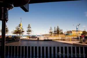 Maroubra beach from the pub