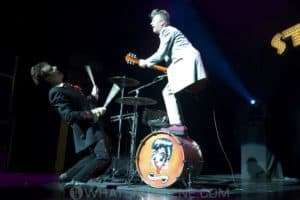 The Stray Cats - Slim Jim Phantom and Brian Setzer at the Palais in Melbourne, 2009