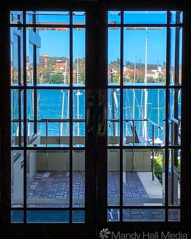 Looking out to Sydney Harbour