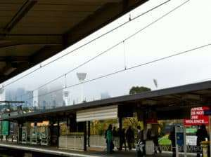 Cold and rainy day at Richmond station